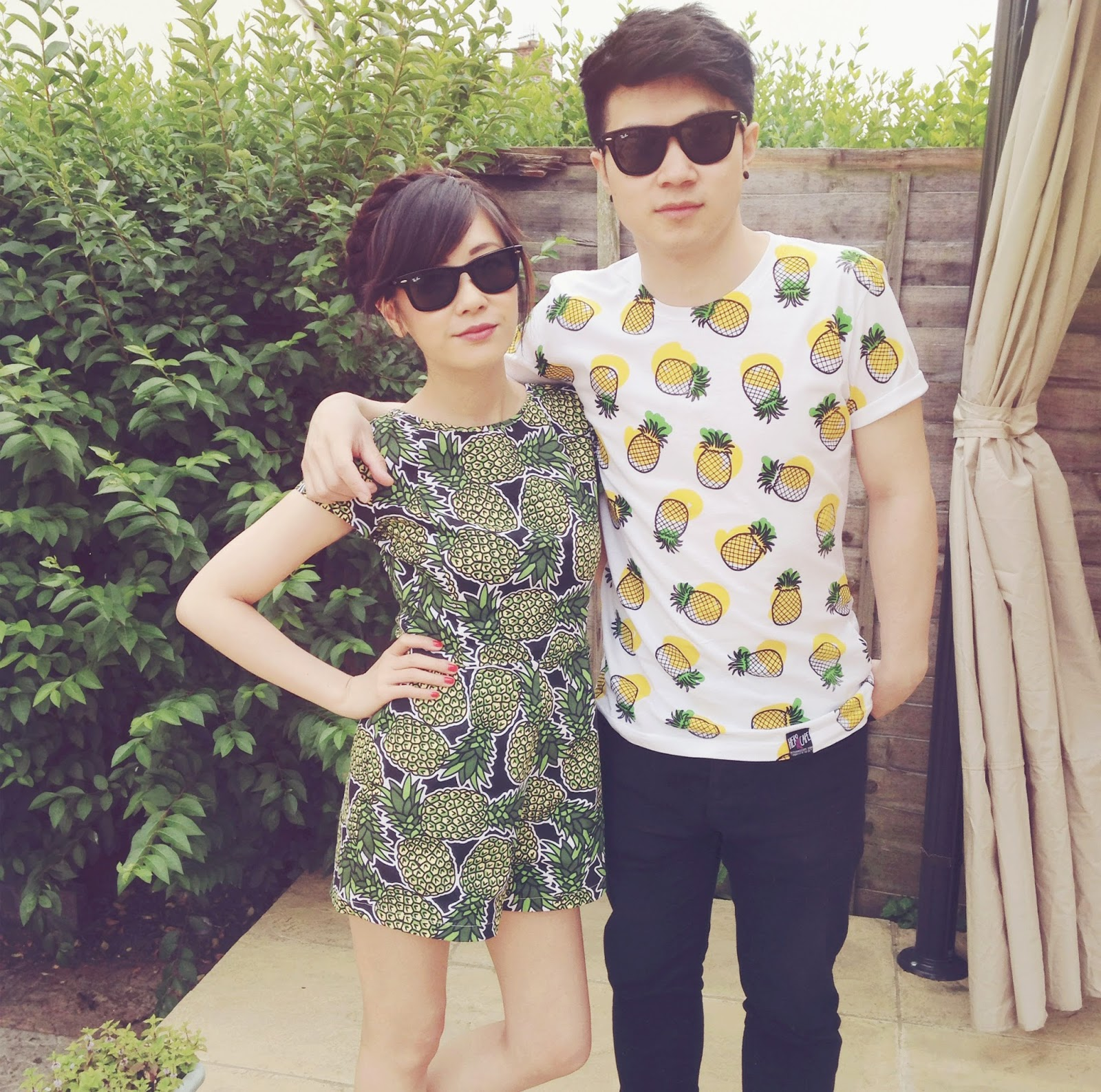 pineapple print playsuit, pineapple print tshirt