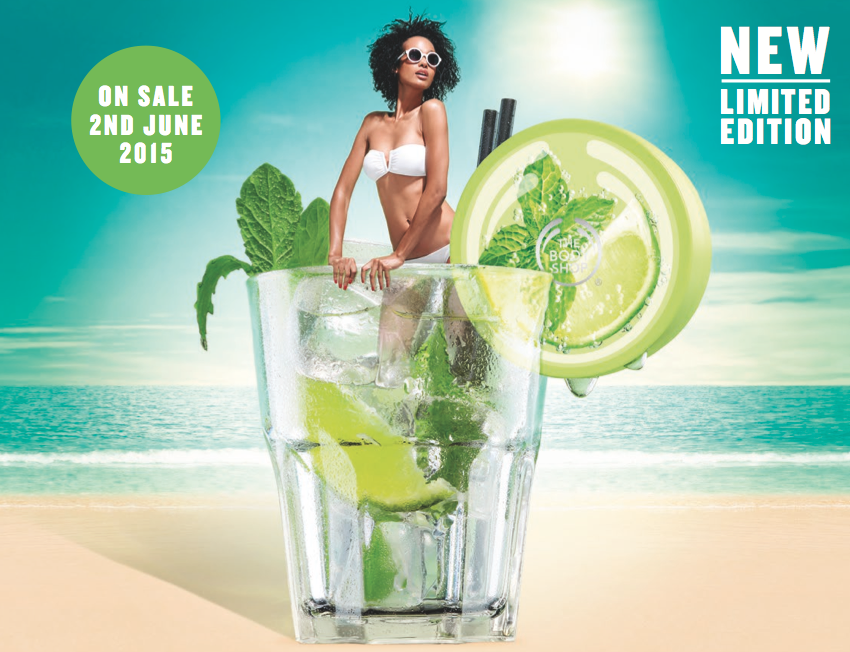 virgin mojito body range collection by the body shop