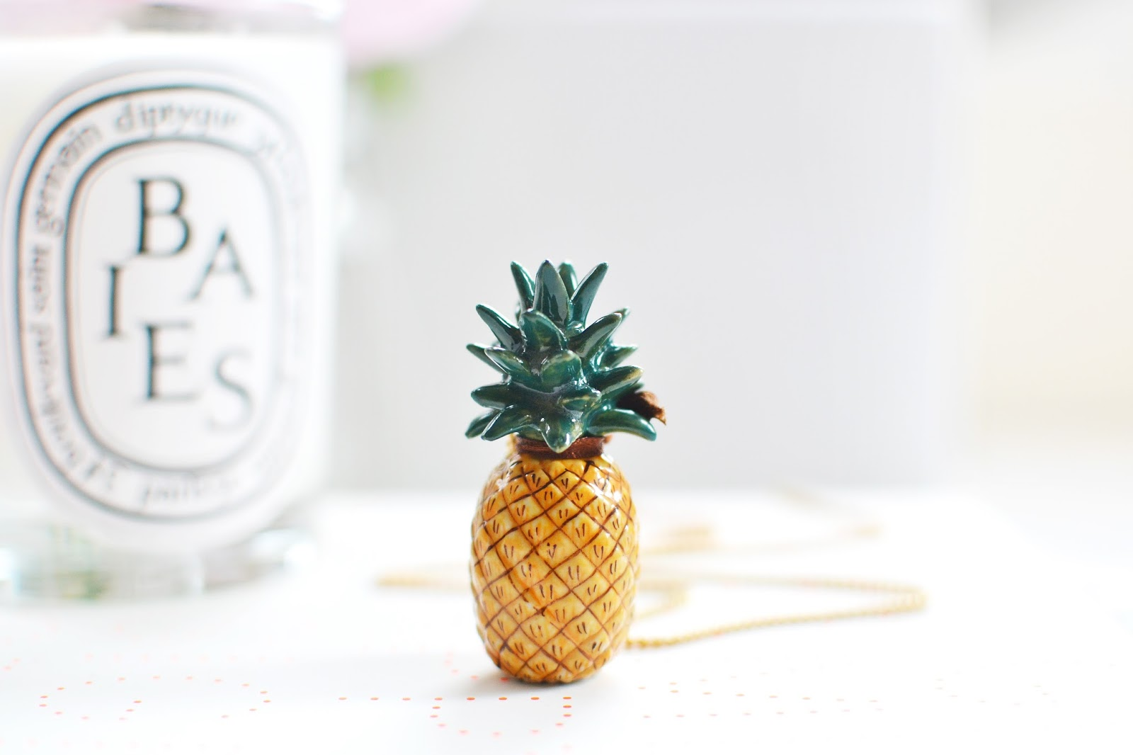pineapple necklace from AndMary