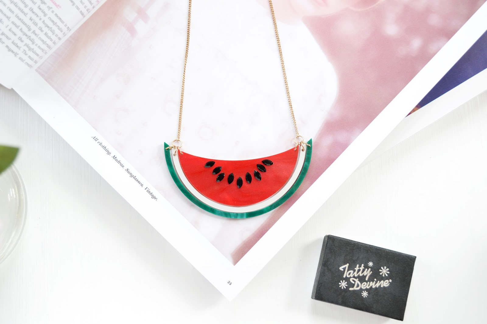 watermelon necklace from tatty devine
