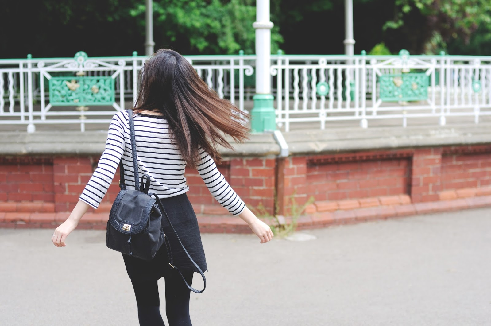 striped top styled by fashion blogger