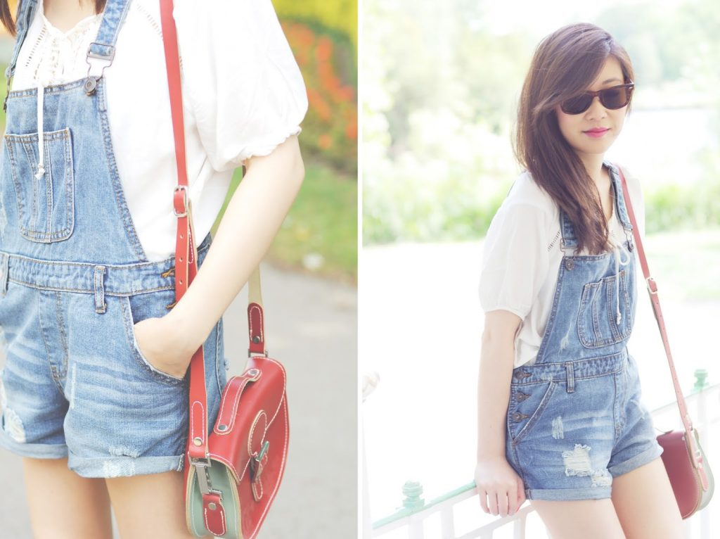 How To Style Denim Dungarees Playsuit