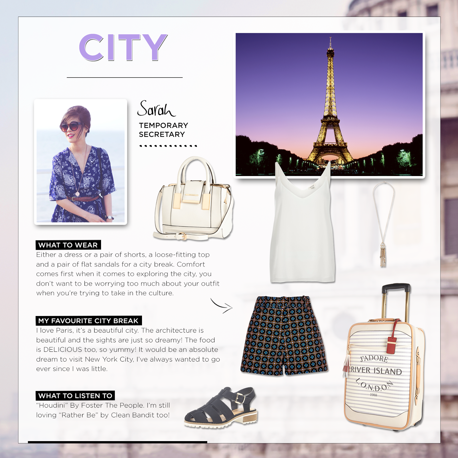 City break style tips, what to wear in Paris