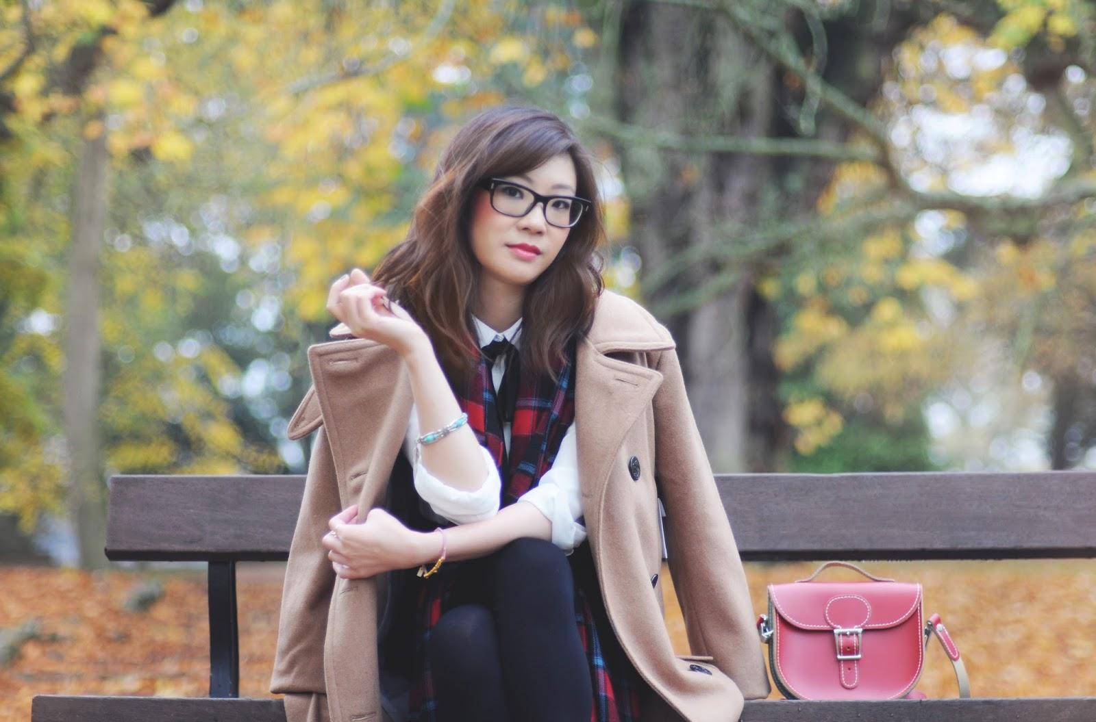 fashion blogger camel coat