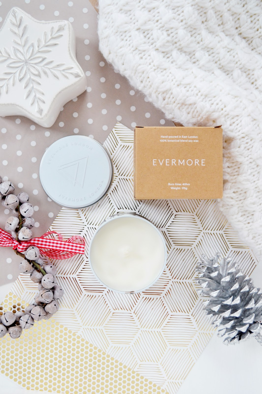hand poured soy wax candles from evermore london