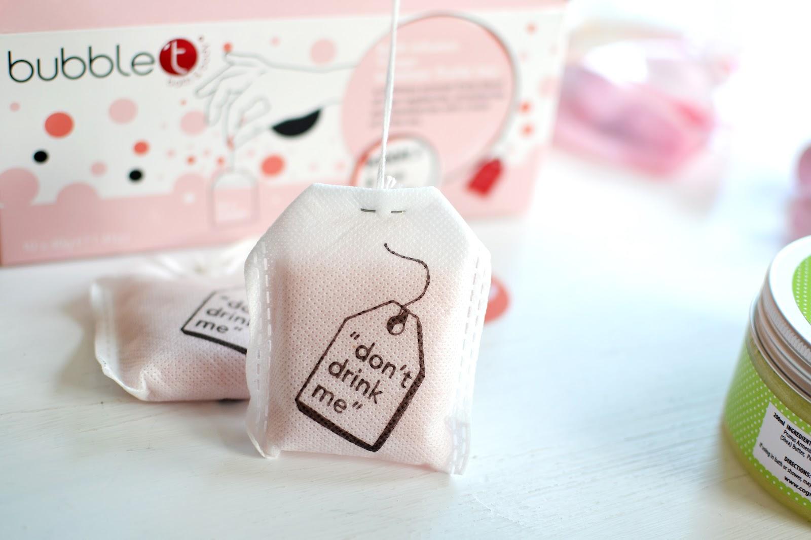 bubble t cosmetics bath tea bags
