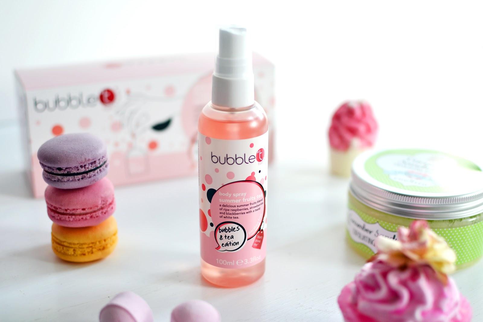 bubble t cosmetics body spray