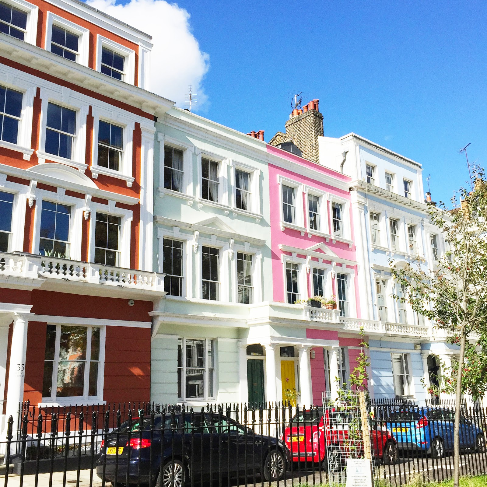 coloured houses in london