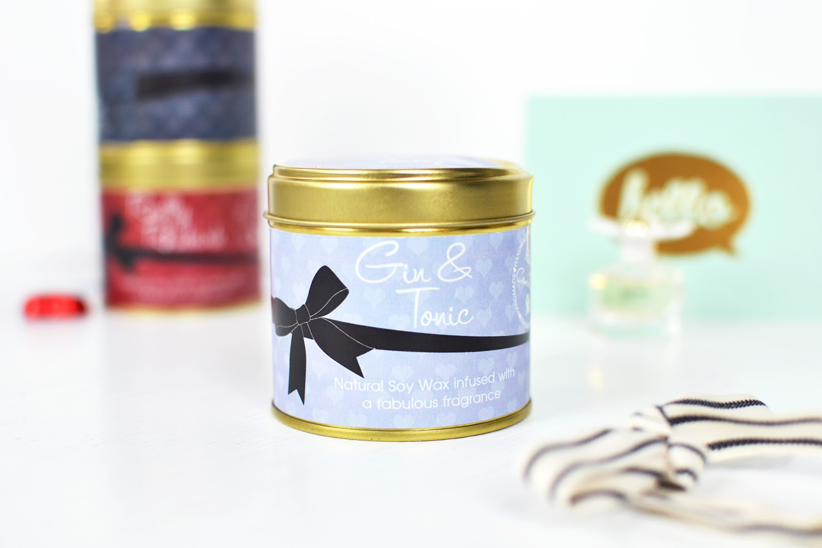 gin and tonic soy wax scented candles