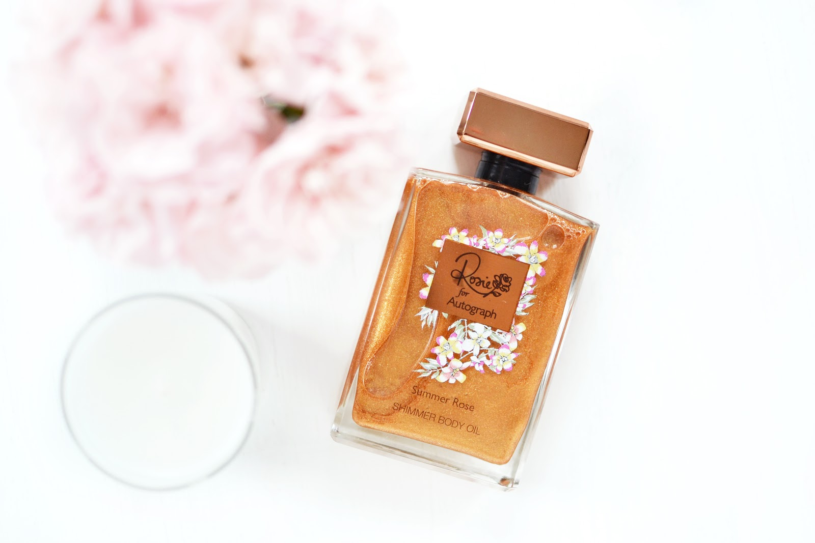 rosie for autograph shimmer body oil