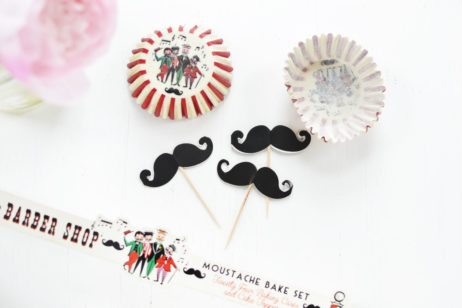 barber shop moustache cake toppers