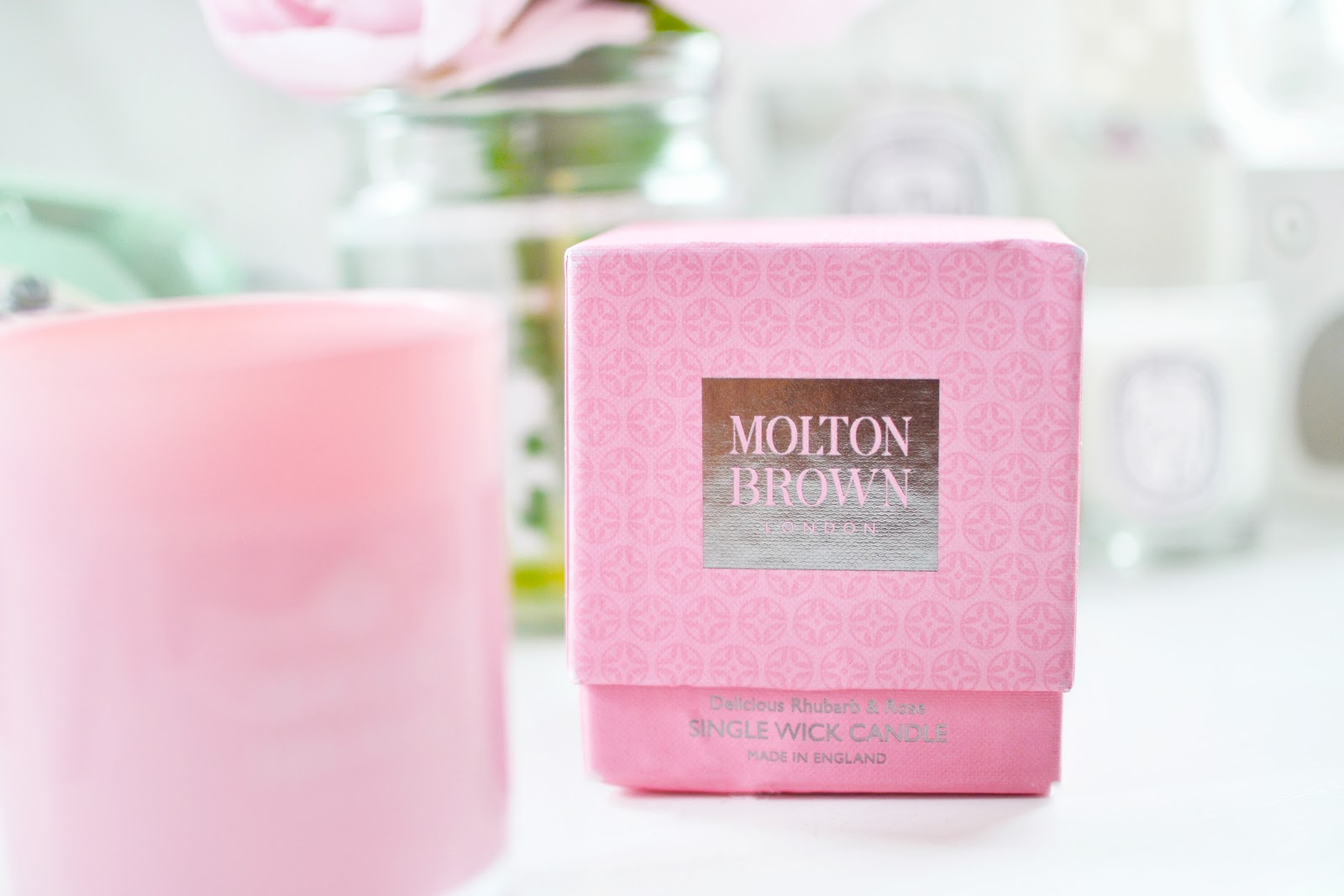 Molton Brown Rhubarb and Rose Candle
