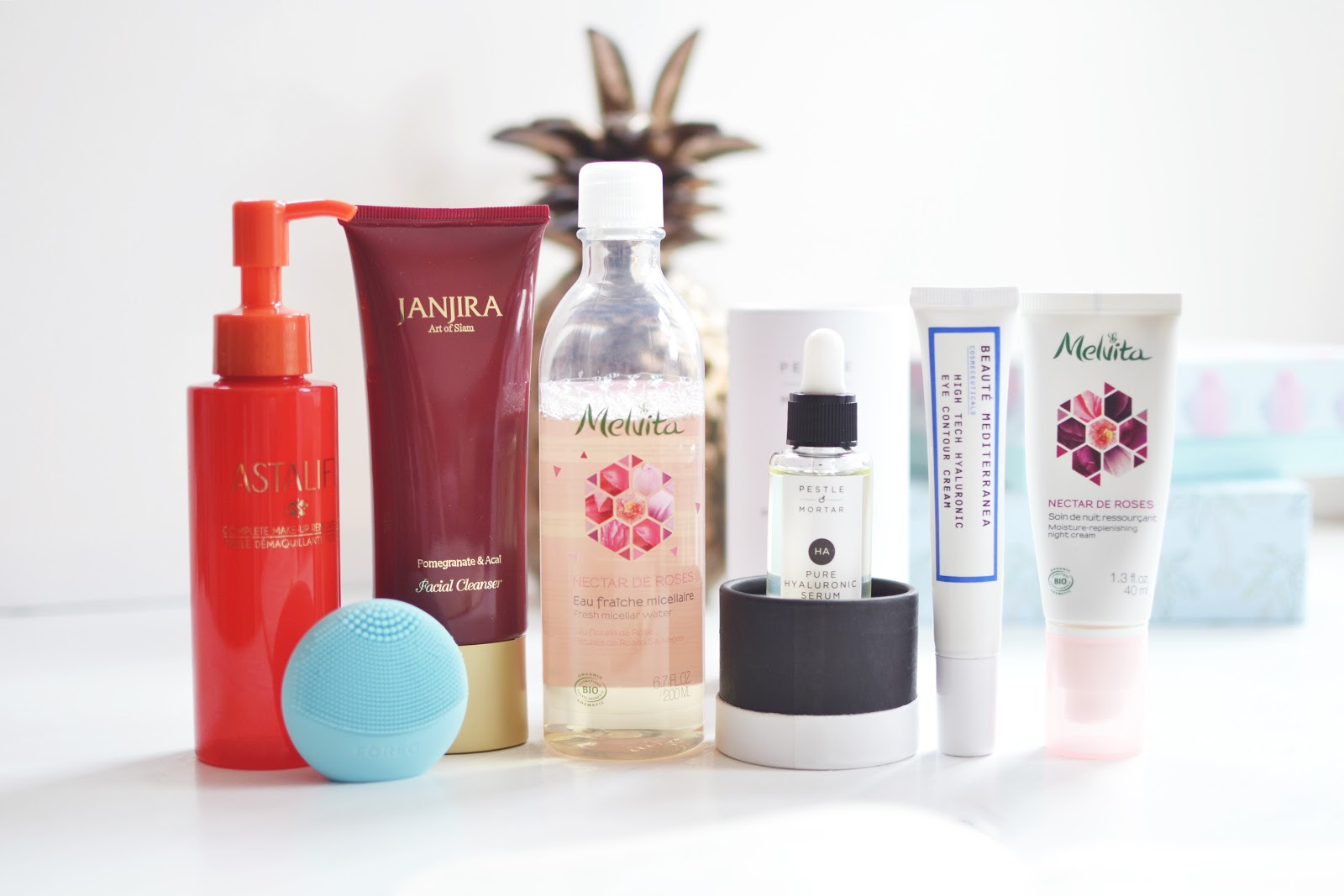 beauty blogger evening skincare routine