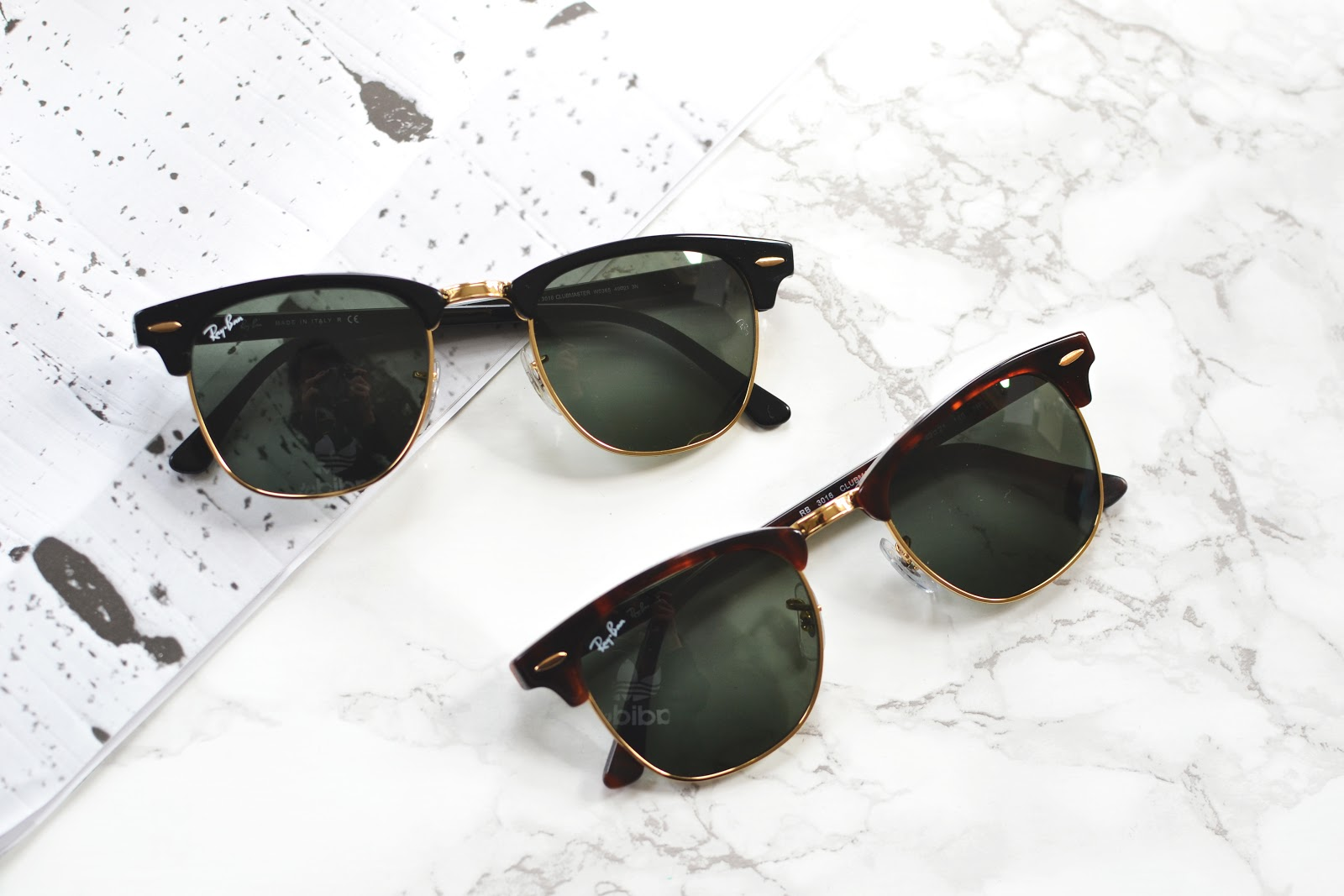 ray ban 3016 clubmasters in black and tortoiseshell