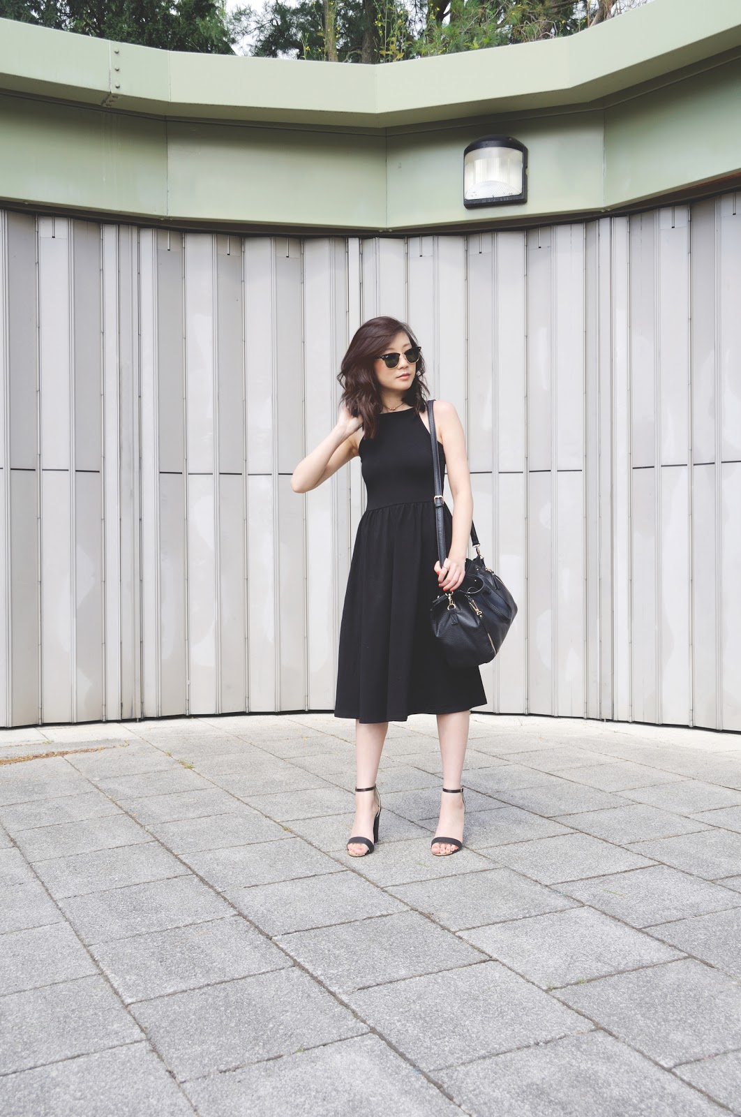 How To Style: 90's Style Black Dress