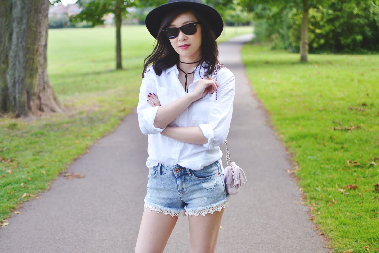 styling denim shorts for summer