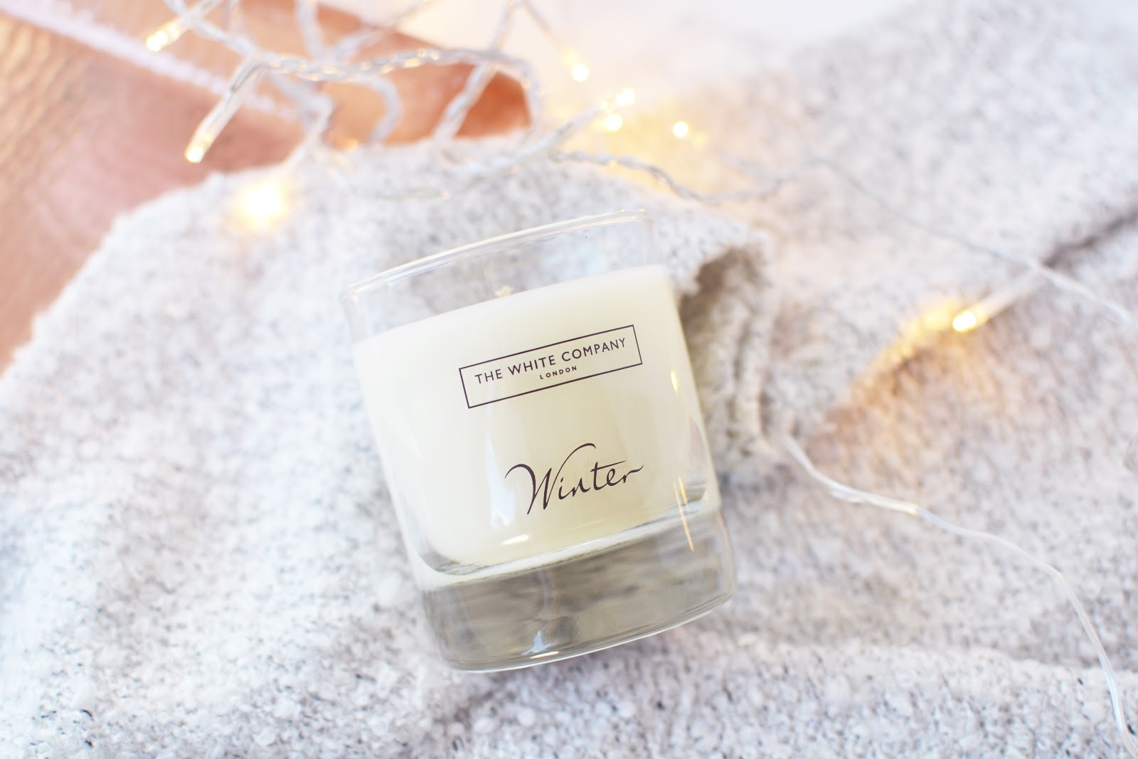 winter scented candle the white company