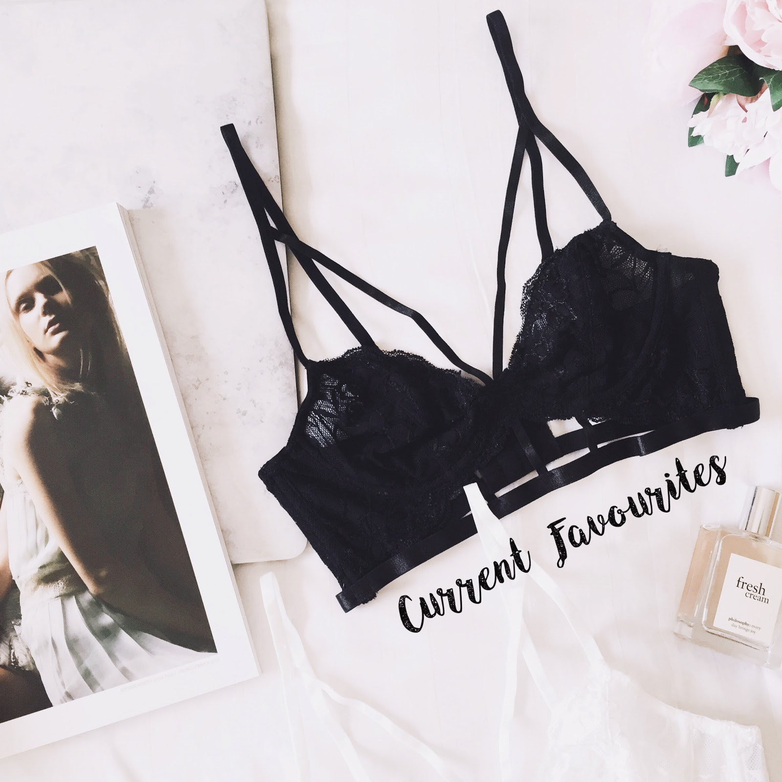 ASOS black strappy bra
