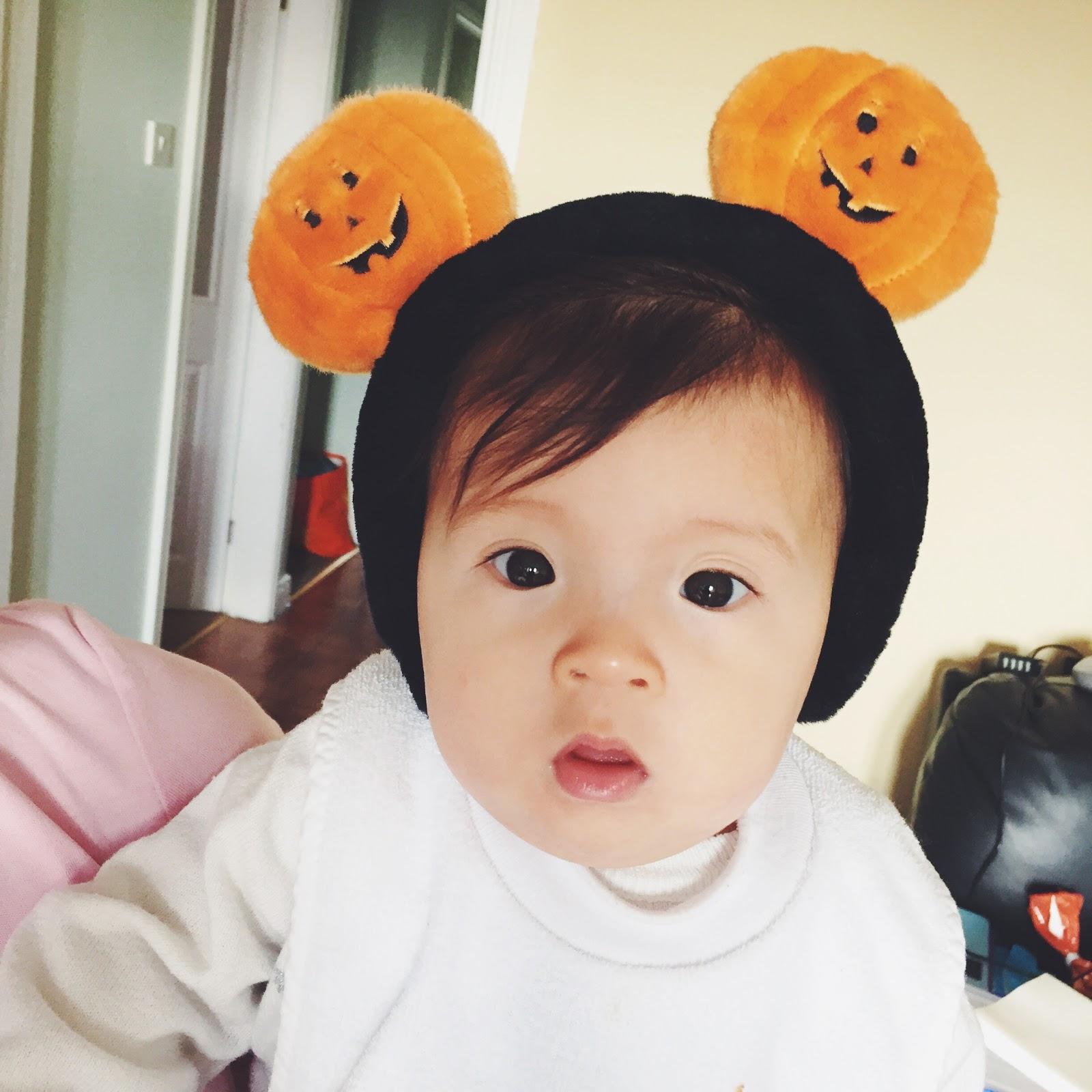 halloween pumpkin mickey ears