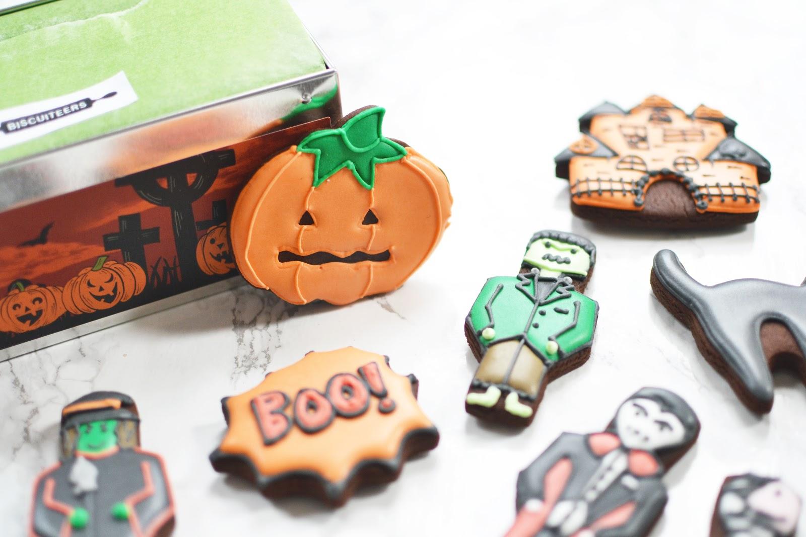 halloween ice biscuits, halloween food treats ideas