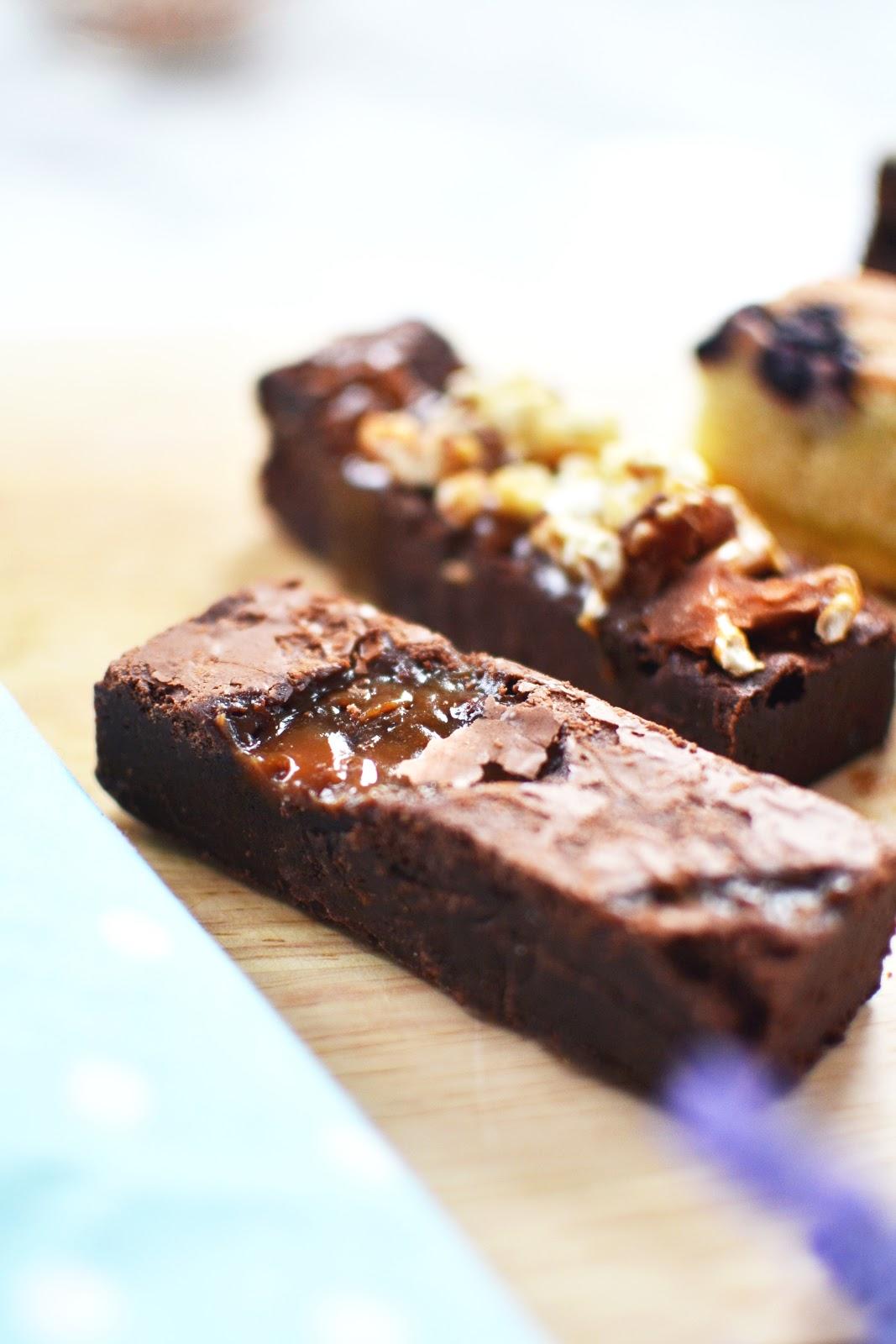 where to buy brownies online, salted caramel brownies