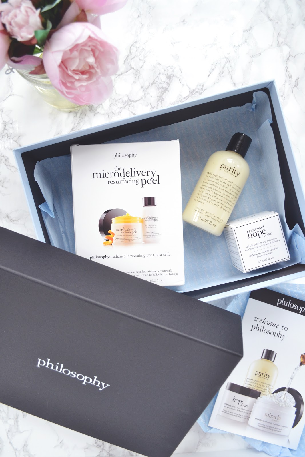 Cleanse, Peel, Treat with Philosophy Skincare