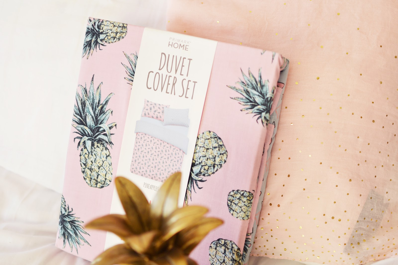 pineapple print duvet cover set