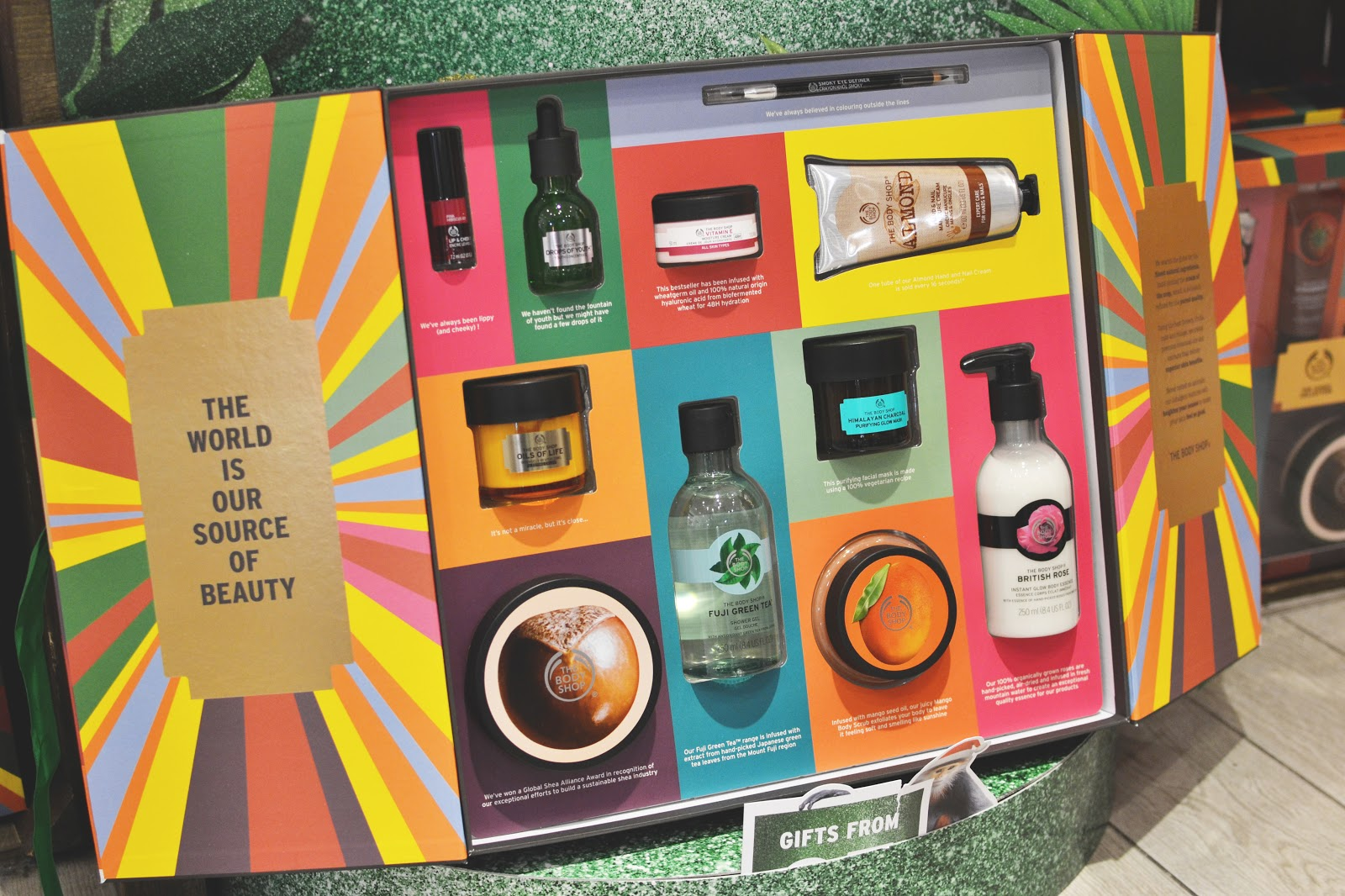 the body shop iconic gift set, beauty christmas gift sets