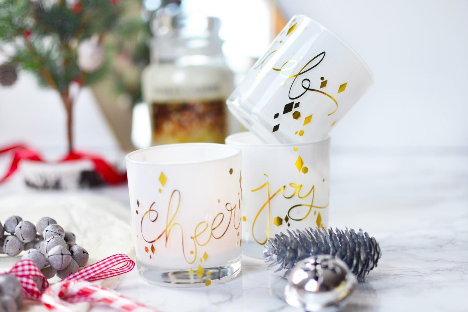 Christmas Festive Votive Candle Tealight Holder