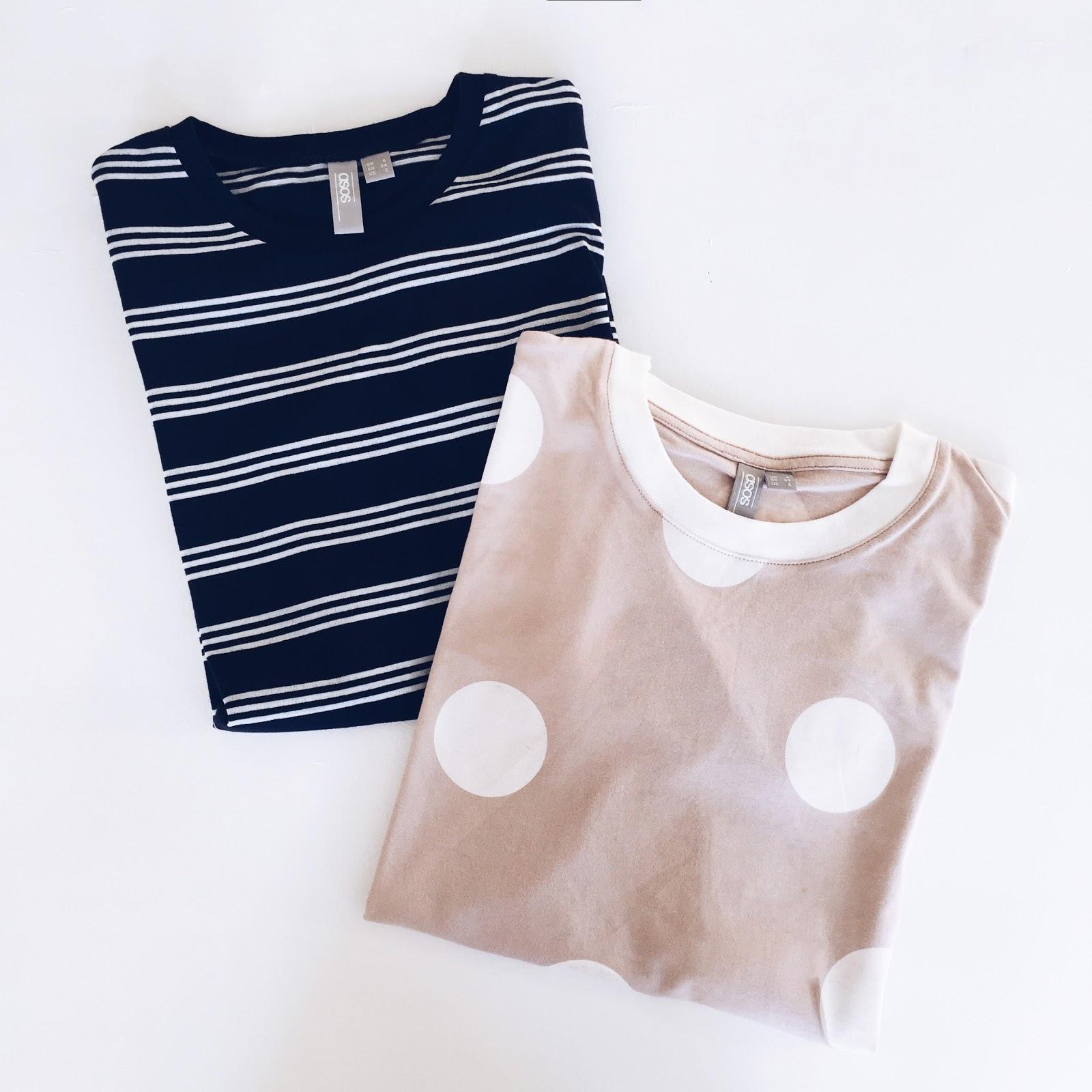 t-shirts from ASOS, Stripy t-shirt, spotty t-shirt