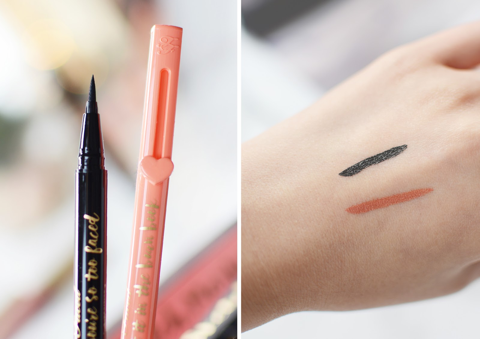 too faced Sketch Markers Liquid Eyeliners