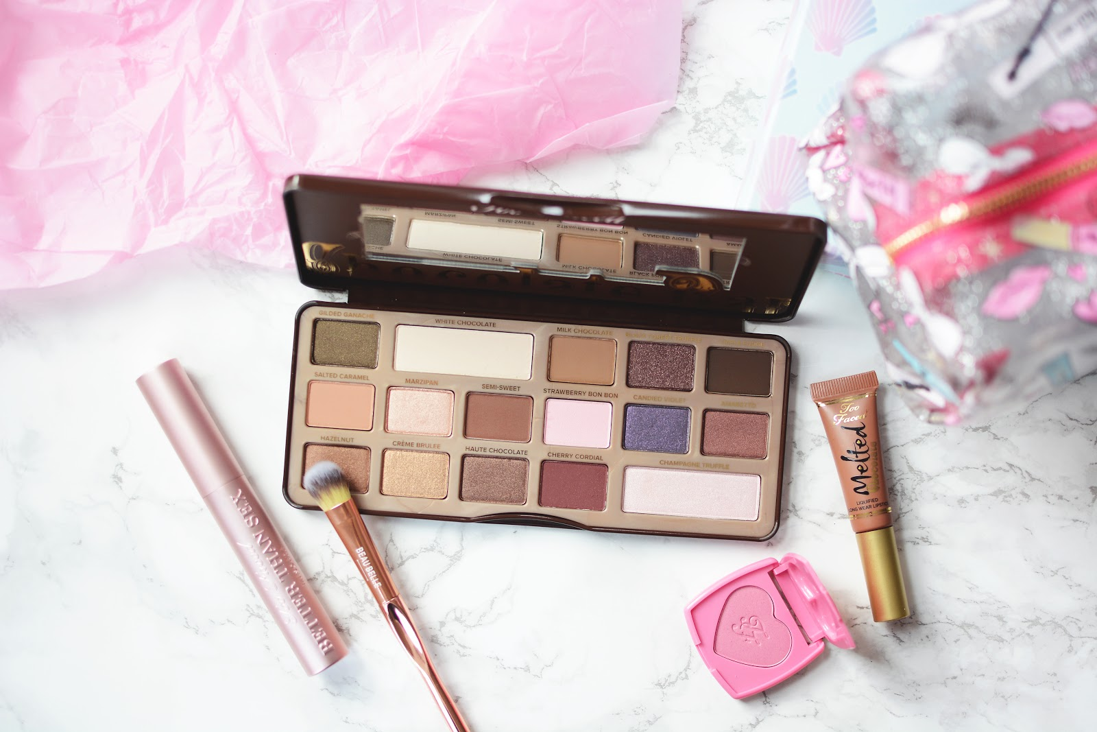 too faced make up, too faced chocolate bar