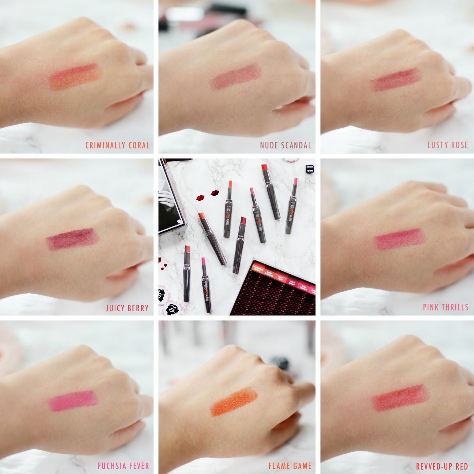 Benefit They're Real Double The Lip swatches