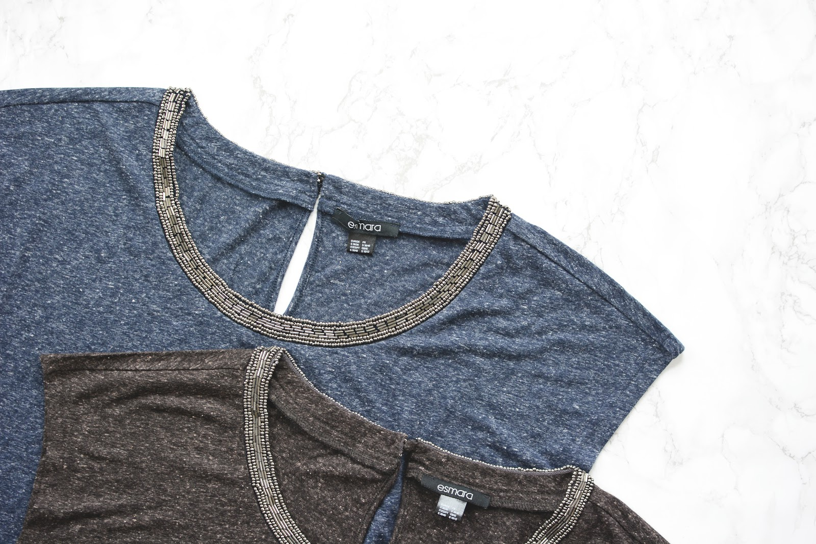 slouchy denim effect tops from lidl