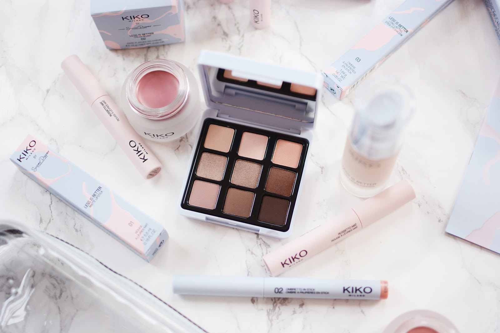 spring beauty trends, KIKO's Less Is Better Collection, no make up make up look, nude eyeshadows