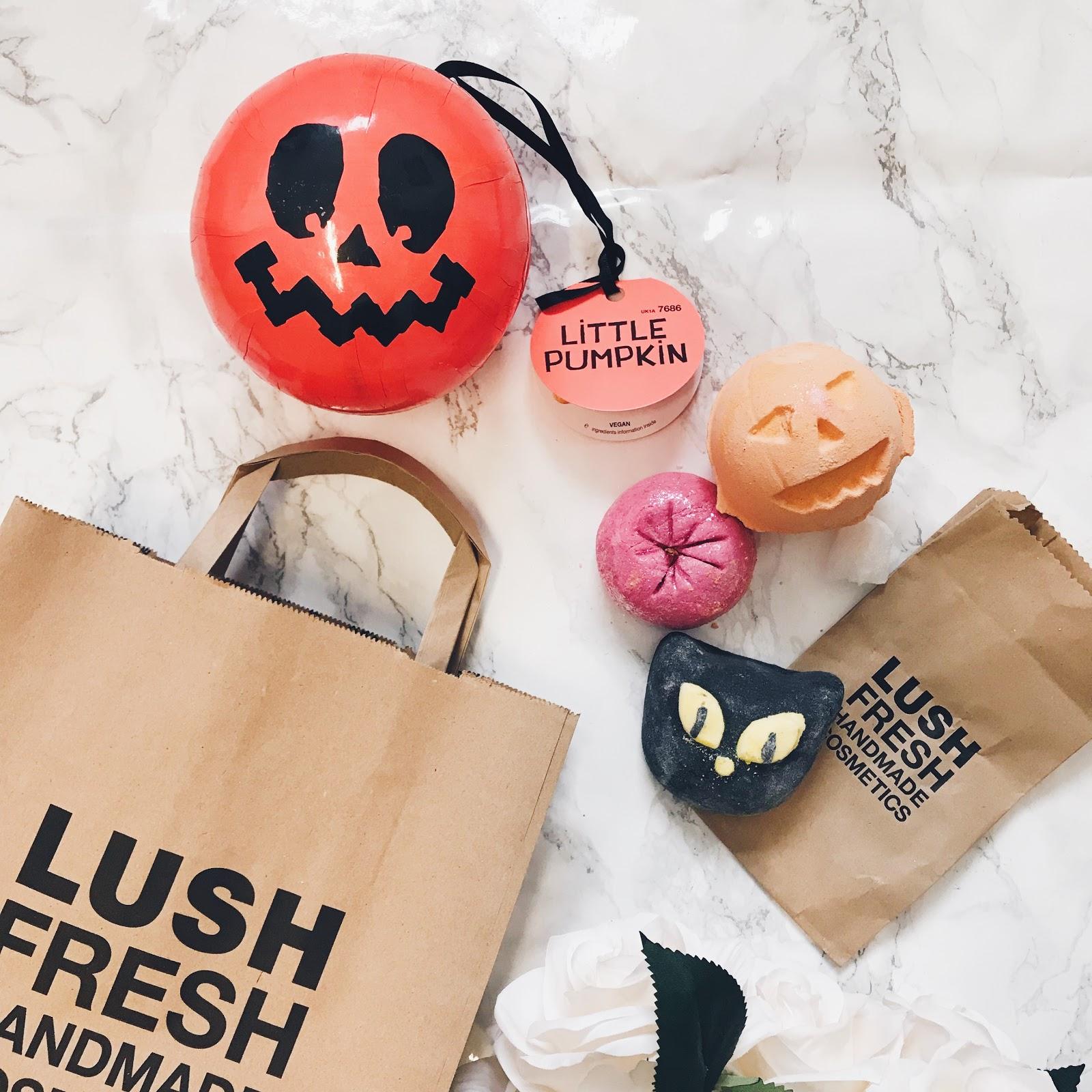 halloween little pumpkin lush gift set