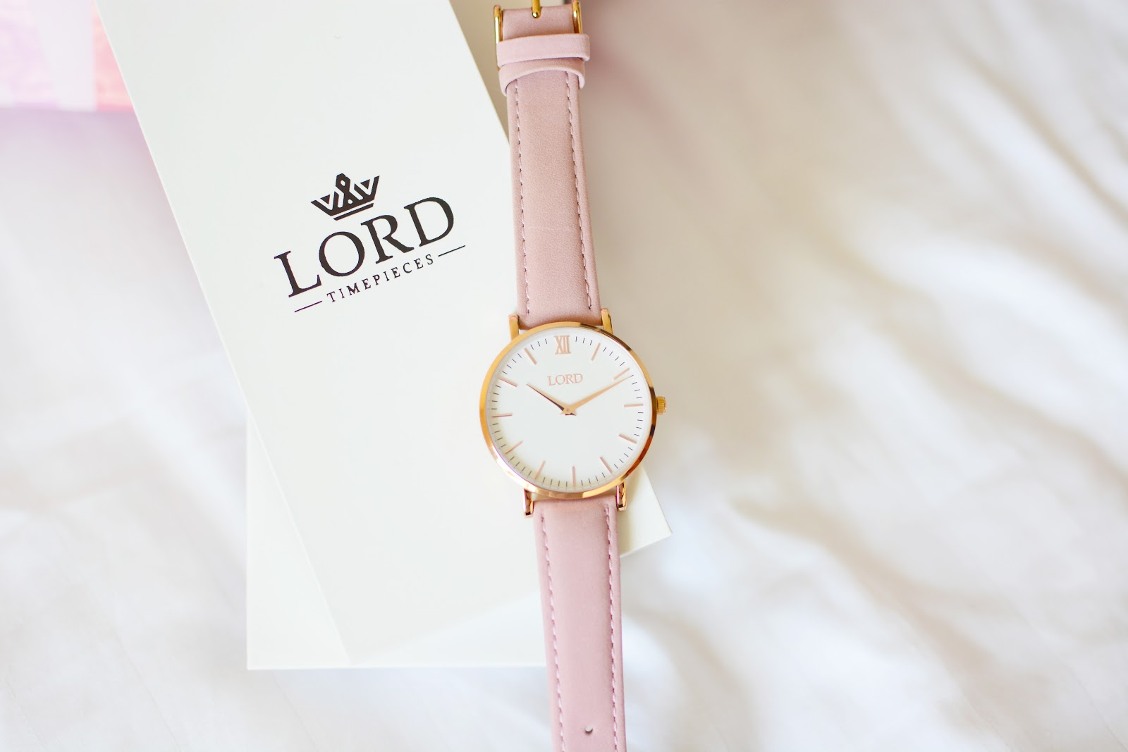Lord Timepieces Classic Pink Watch
