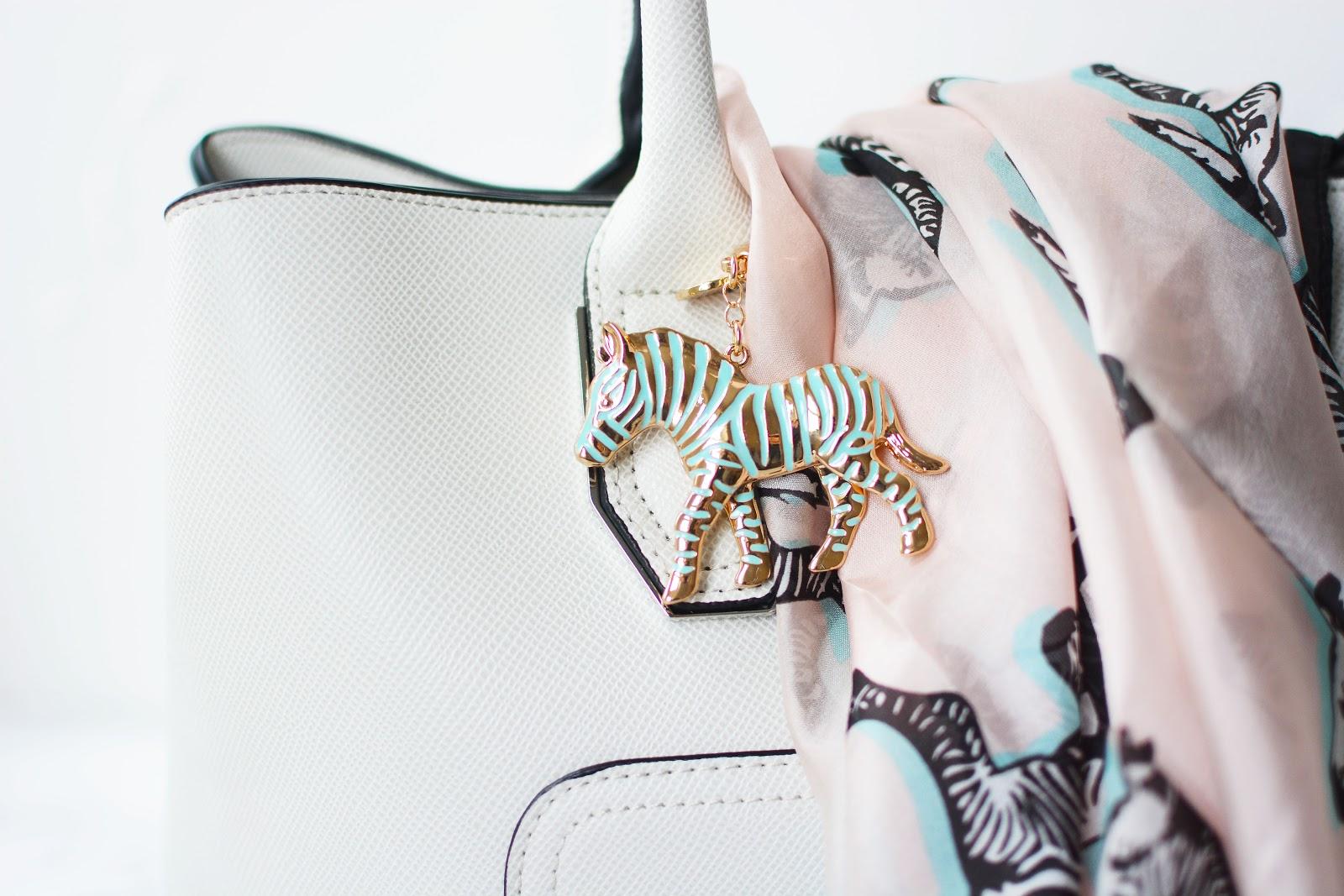 T by Tabitha Webb zebra key charm
