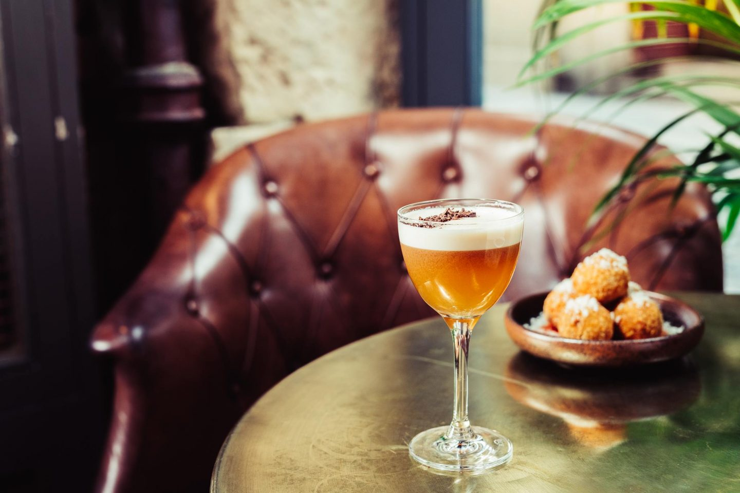 A Date With Rhubarb cocktail from Pleased To Meet You