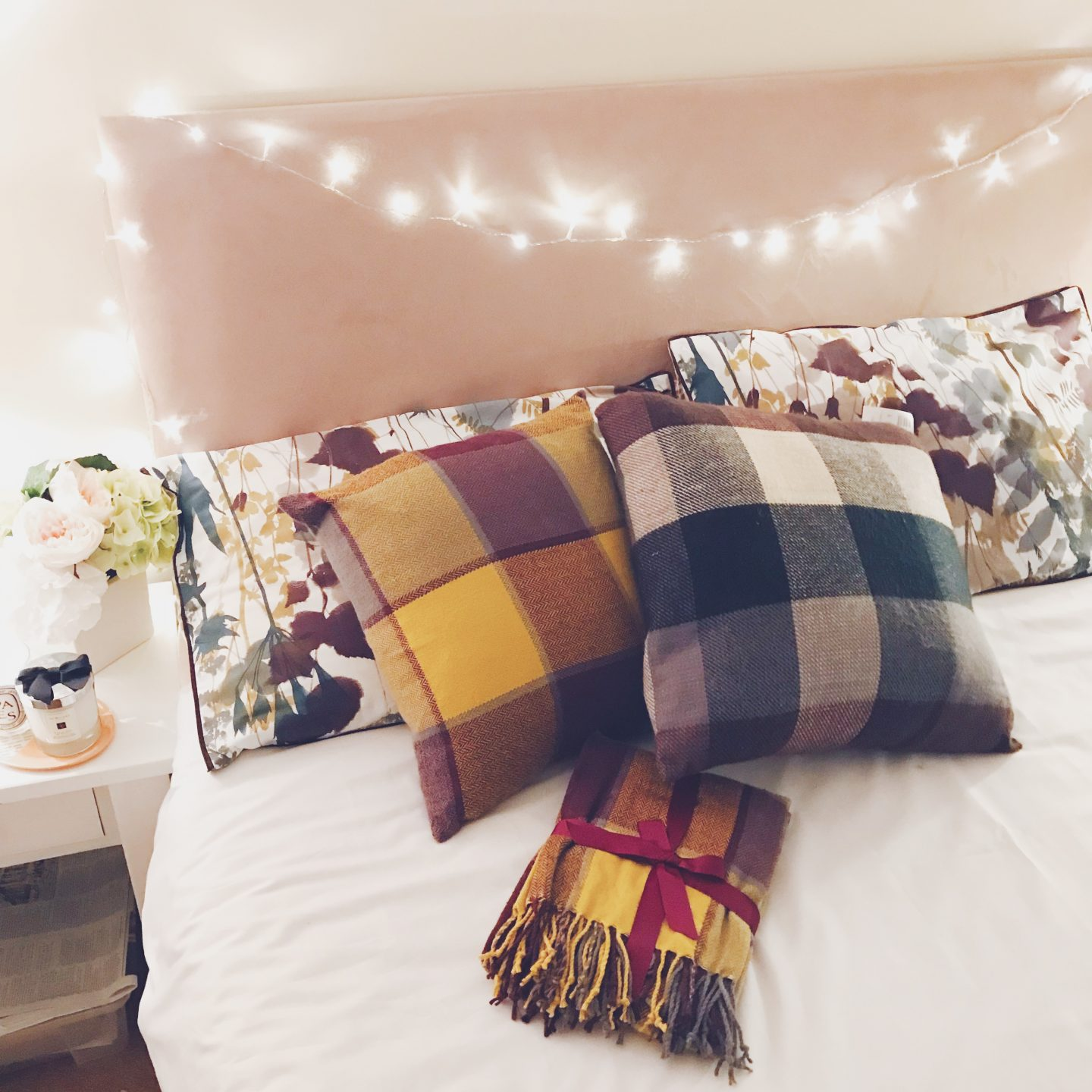 Sainsbury's homeware, sainsbury's bedding, autumnal vibes, autumnal bedding