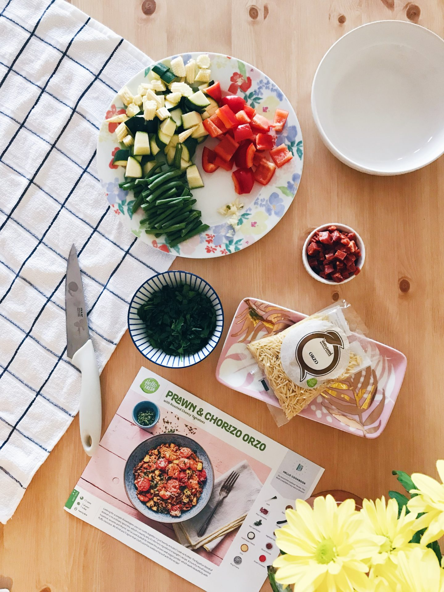 Easy Recipe For A Healthy Dinner, Recipe for Orzo, HelloFresh Orzo, HelloFresh UK recipes, Eating healthy, meals under 700 calories